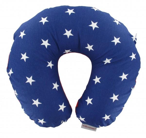 Nackenkissen Sterne blau
