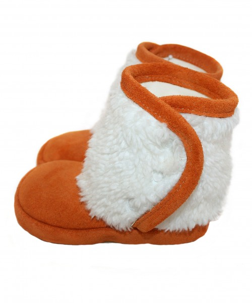 Kinder Winterschuhe orange/weiß