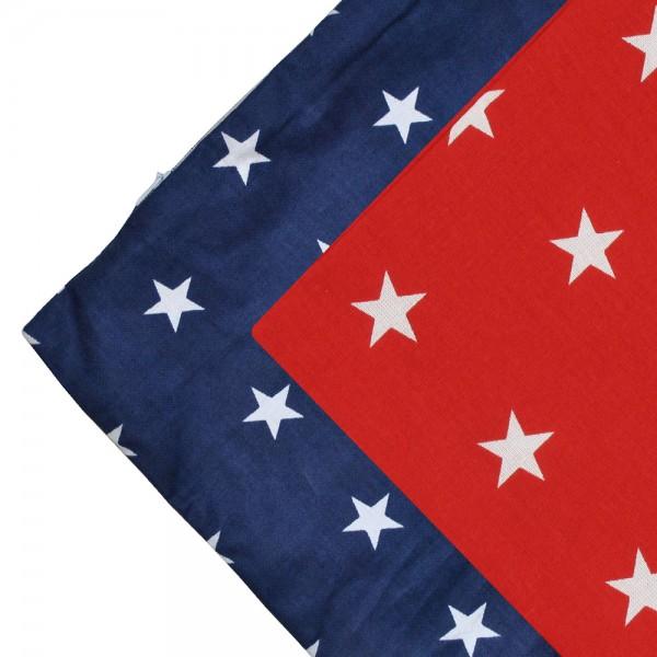 Kissenbezug 50 x 50 cm Sterne rot/blau