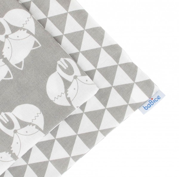 Kissenbezug Füchse/Dreiecke