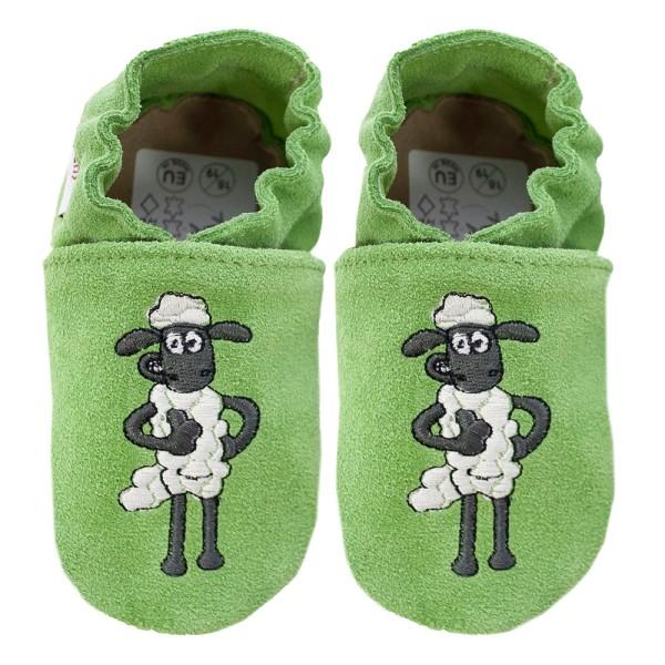 Kinderschuhe Shaun das Schaf Shaun grün