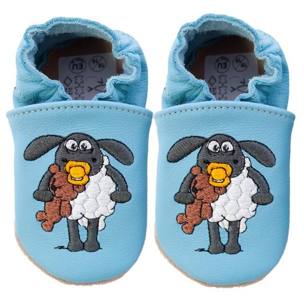 Schaun das Schaf Krabbelschuhe Timmy blau