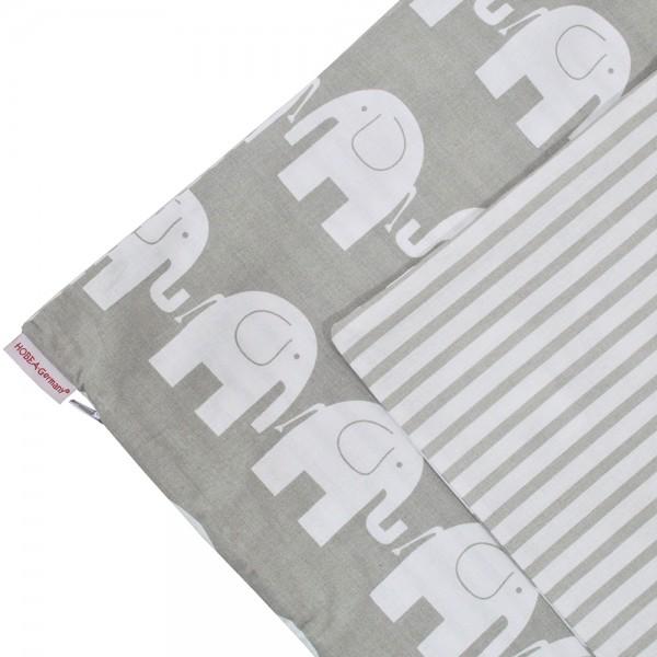 Kissenbezug 50 x 50 cm Elefanten/Streifen