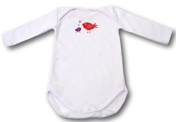 Thermochrom Baby Body Vögel Vorderseite