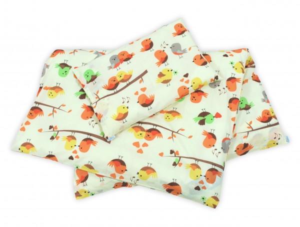 Kinderbettwäsche Vögel gelb