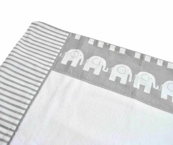 Bezug für Wickelauflage Elefanten/Streifen